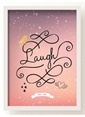 All About Wall Laugh Poster Renkli
